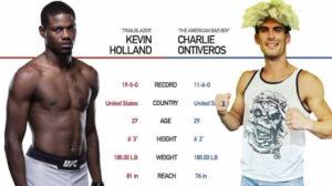Видео боя Кевин Холланд - Чарли Онтиверос / UFC Fight Night 181