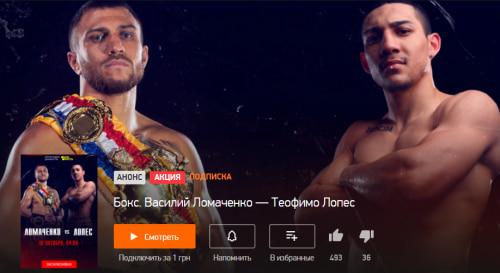 Ломаченко - Лопес / Прямая трансляция