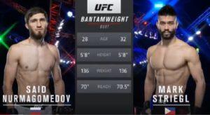 Видео боя Саид Нурмагомедов - Марк Стригл / UFC Fight Night 180