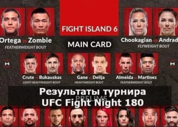 Результаты турнира UFC Fight Night 180