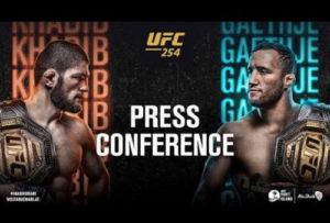 Пресс-конференция UFC 254: Нурмагомедов - Гейджи