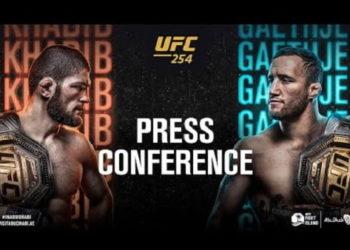 Пресс-конференция UFC 254: Нурмагомедов — Гейджи