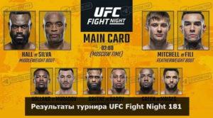 Результаты турнира UFC Fight Night 181