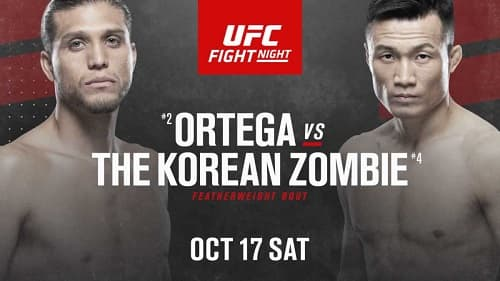 UFC Fight Night 180: Ортега - Зомби / Прямая трансляция