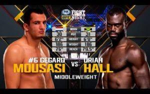 Видео боя Юрайя Холл - Гегард Мусаси 1 / UFC Fight Night 75