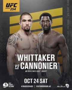 Бой Уиттакера и Каннонье станет со-главным событием на UFC 254