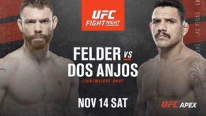 Пол Фелдер сразится с Дос Аньосом на UFC Vegas 14