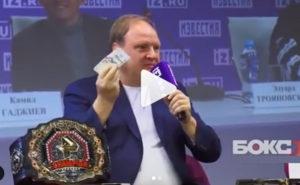 Перепалка и угрозы из-за денег проспоренных Хрюновым бойцу мма Артему Тарасову