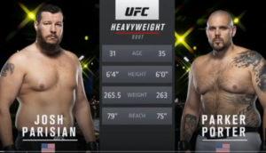 Видео боя Джош Паризиан - Паркер Портер / UFC Vegas 15