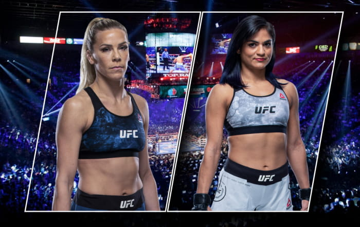 Видео боя Кэтлин Чукагян - Синтия Калвилло / UFC 255