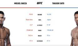 Видео боя Мигель Баеза — Такаши Сато / UFC Vegas 15