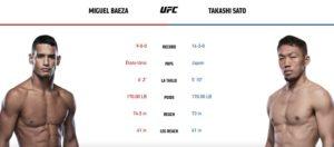 Видео боя Мигель Баеза - Такаши Сато / UFC Vegas 15