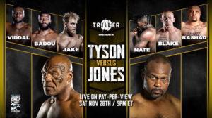 Где смотреть бой Майка Тайсона и Роя Джонса