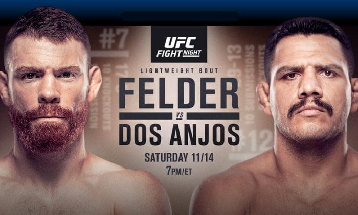 Видео боя Пол Фельдер - Рафаэль Дос Аньос / UFC Vegas 14