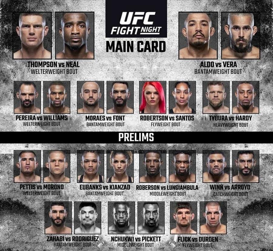 Файт кард UFC Vegas 17