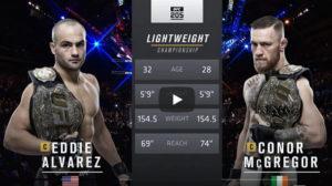 Видео боя Конор Макгрегор - Эдди Альварес / UFC 205