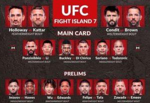 Результаты турнира UFC on ABC 1 / UFC Fight Island 7