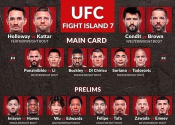 Результаты турнира UFC on ABC 1 / UFC Fight Island 7