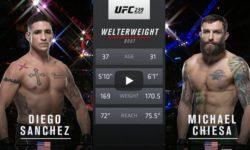 Видео боя Майкл Кьеза — Диего Санчес / UFC 239