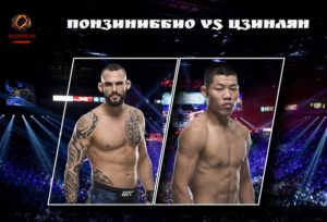 Видео боя Сантьяго Понзиниббио - Ли Цзинлян / UFC Fight Night