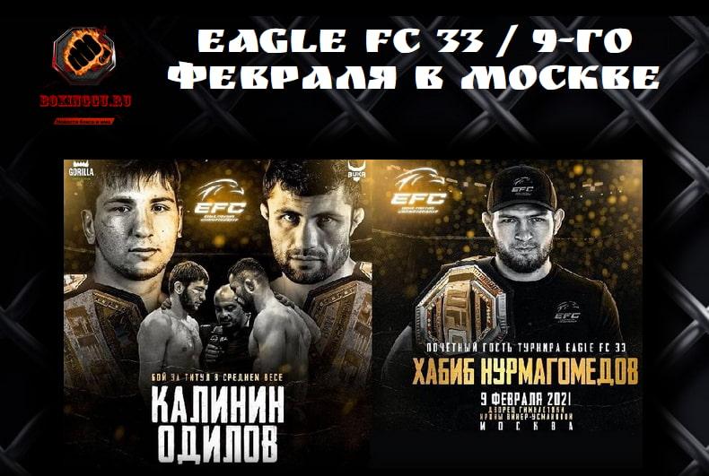 EAGLE FC 33 / 9-го февраля в Москве