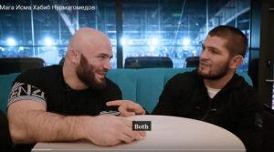 Мага Исмаилов взял интервью у Хабиба Нурмагомедова
