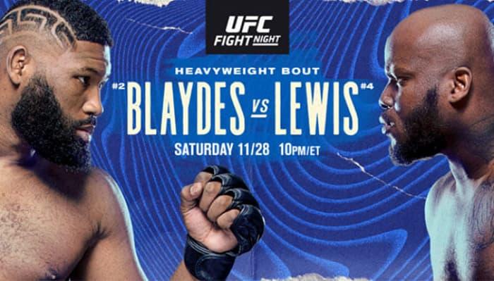 Прямая трансляция UFC Fight Night: Блэйдс vs Льюис