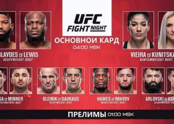 Результаты турнира UFC Fight Night 185 / UFC Vegas 19