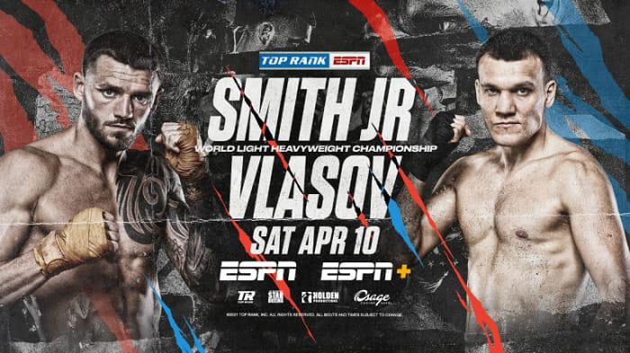 Максим Власов и Дж Смит сразятся за титул WBO в апреле