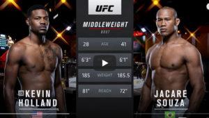 Видео боя Кевин Холланд - Жакаре Соуза / UFC 256