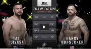 Видео боя Тай Туиваса - Гарри Хансакер / UFC Fight Night 188