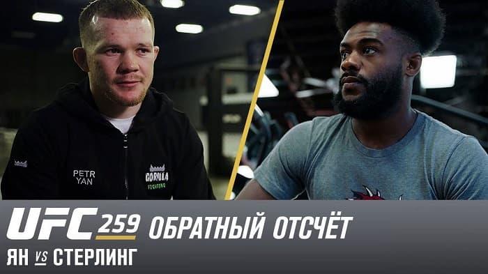 UFC 259: Обратный отсчет - Ян vs Стерлинг