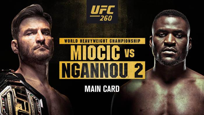 UFC 260: Миочич vs Нганну 2 / Прямая трансляция