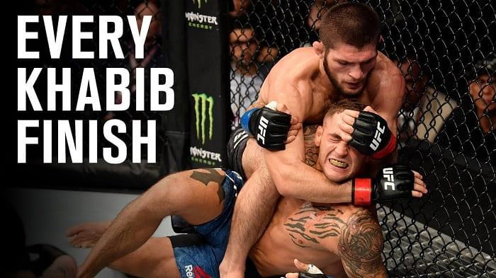 Все финиши Хабиба Нурмагомедова в UFC