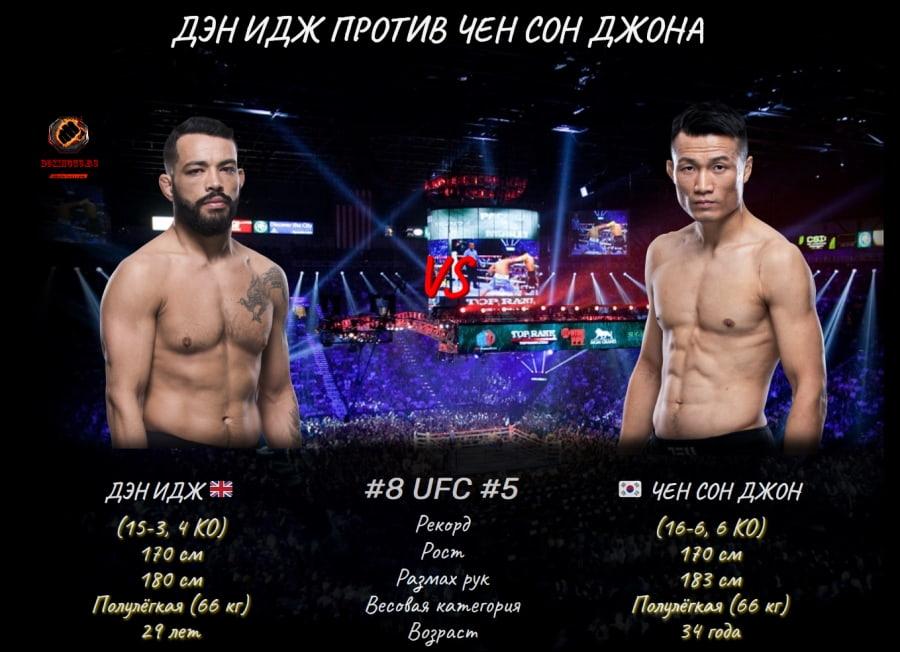UFC Fight Night 190: Чан Сун Чжун против Дэн Идж