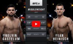 Видео боя Кельвин Гастелум — Йен Хейниш / UFC 258