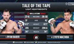Видео боя Райан Бейдер — Лиото Мачида 2 / Bellator 256