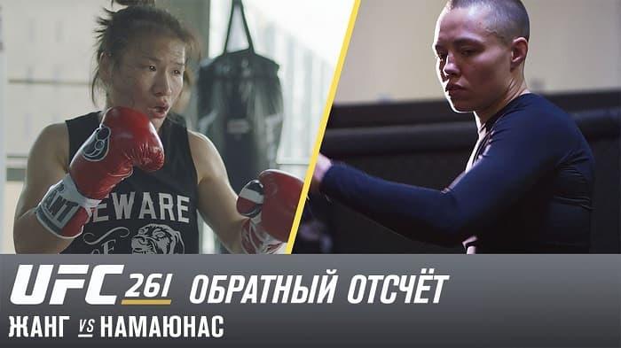 UFC 261: Обратный отсчет - Жанг vs Намаюнас