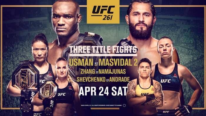 UFC 261: Усман - Масвидаль 2 / Прямая трансляция