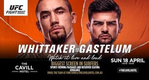 UFC Fight Night: Уиттакер - Гастелум / Прямая трансляция