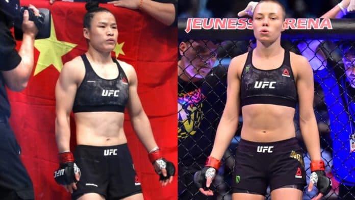 Видео боя Роуз Намаюнас - Вейли Чжан / UFC 261