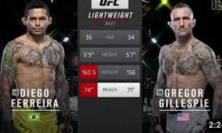 Видео боя Диего Феррейра — Грегор Гиллеспи / UFC Vegas 26