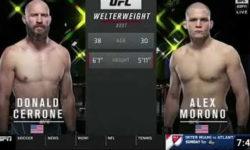 Видео боя Дональд Серроне — Алекс Мороно / UFC Vegas 26