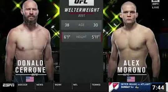 Видео боя Дональд Серроне - Алекс Мороно / UFC Vegas 26