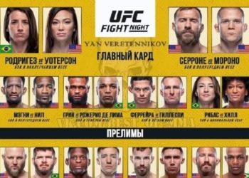 Результаты турнира UFC Vegas 26