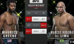 Видео боя Морис Грин — Маркус Роджерио де Лима / UFC Vegas 26