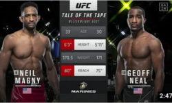 Видео боя Нейл Магни — Джеф Нил / UFC Vegas 26