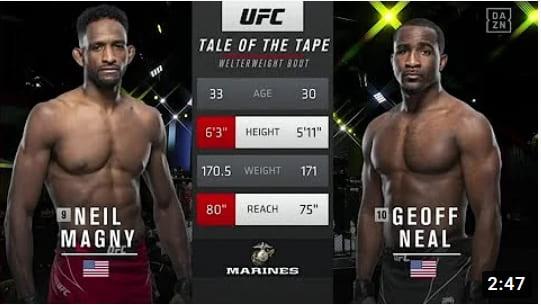 Видео боя Нейл Магни - Джеф Нил / UFC Vegas 26