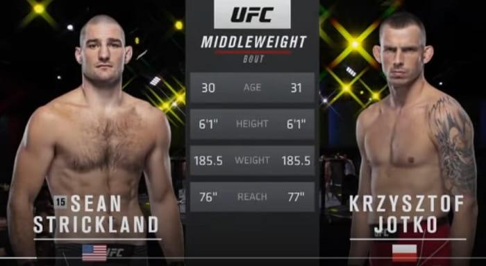 Видео боя Кшиштоф Йотко - Шон Стрикленд / UFC Vegas 25