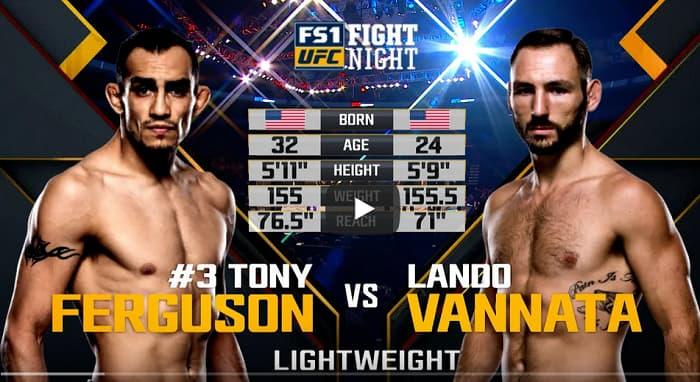 Видео боя Тони Фергюсон - Ландо Ванната / UFC Fight Night 91